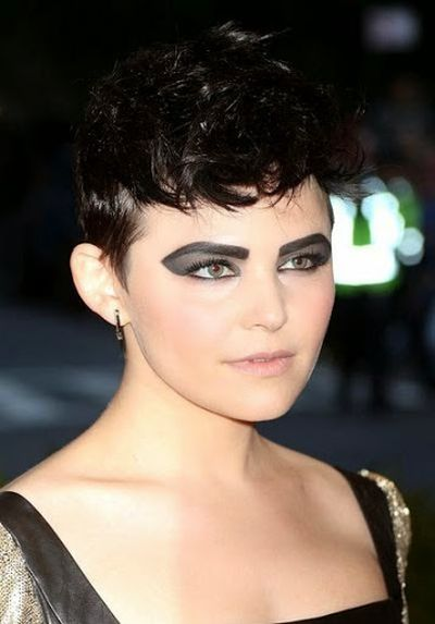 Ginnifer Goodwin Black Hair with Cool Short Hairstyle