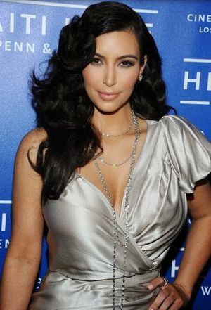 11. 50s Inspired for Curly and Retro Hairstyle For Popular Celebrity Kim Kardashian
