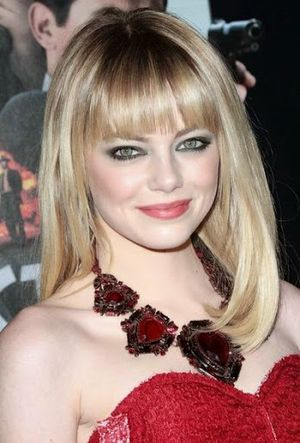 Emma Stone Super Chic Bangs Hairstyle