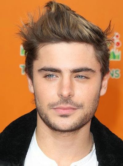 Triangular Face Shape and Short Hairstyle Ideas for Zac Efron