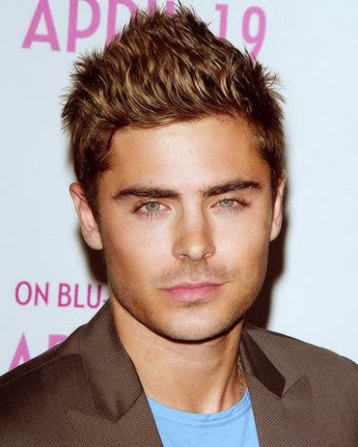 Beautiful Brown Hair with Zac Efron Short Spiked Hair Look