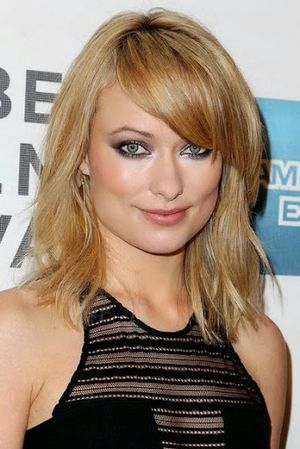 Olivia Wilde Side swept Bangs Hairstyle