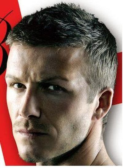 Short Hairstyle Look for David Beckham