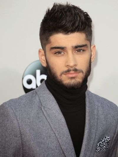14. Zayn Malik in Beard Hair Look 2014