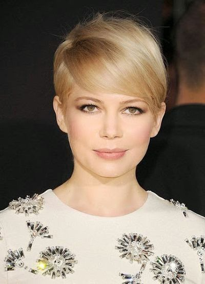 Michelle Williams Short Bnags Hairstyle