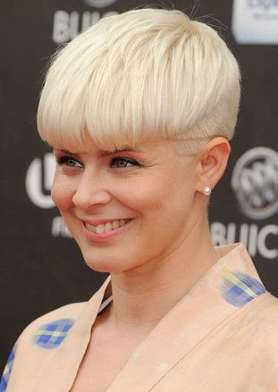 Beautiful Recording Artist Robyn Short Bowl Haircut