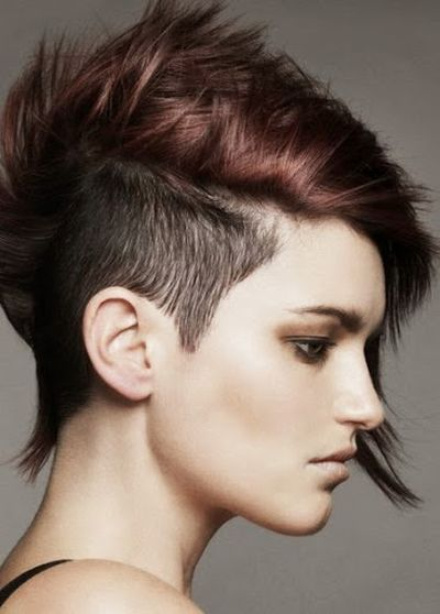 Beautiful Stylish Undercut and Messy Hairstyle With Glamorous Hair Color Ideas for Girls