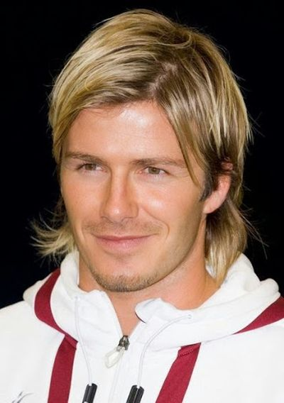A Mullet Hairstyle Look Like Awesome for David Beckham