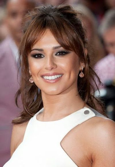 Cheryl Cole Loose Curls Hair and Bangs Hairstyle