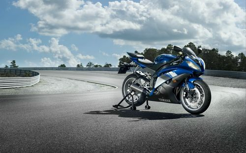 Yamaha bike blue color motorcycle wallpapers