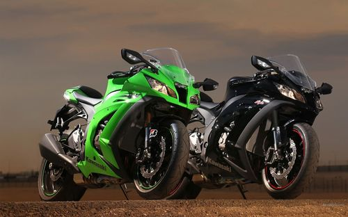 Black and green colored kawasaki bike wallpapers