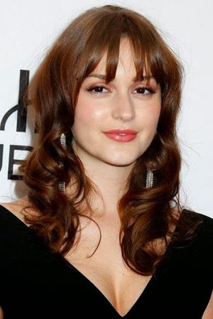 Leighton Meester $e+y Curly and Bangs Hairstyle