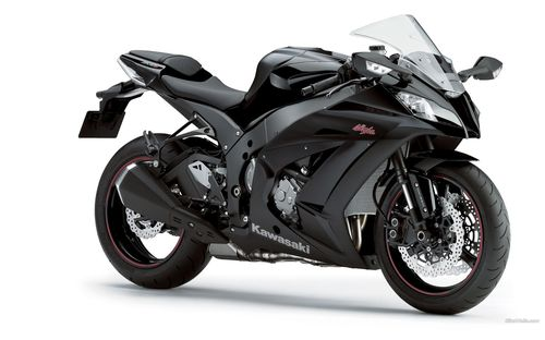 Another black colored kawasaki bike wallpapers