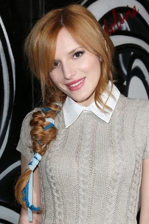 Bella Thorne Ribbon With Braided Hairstyle