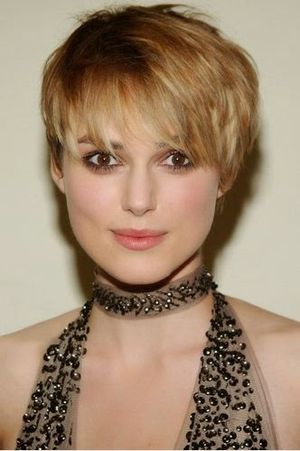 Keira Knightley Short Funky Hair Look