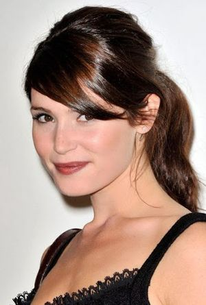 Gemma Arterton Long Up-do, Wavy , Ponytail and Bangs Hairstyle
