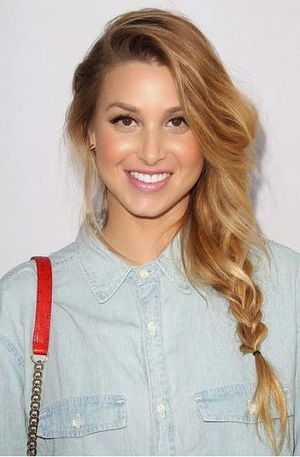 Whitney Port Casual Braided Hairstyle