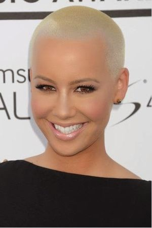Amber Rose Very Short and Buzz Haircut