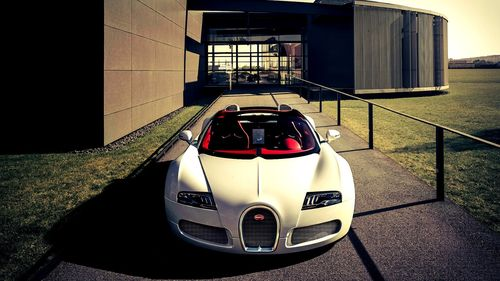 White color bugatti police car wallpaper and pictures