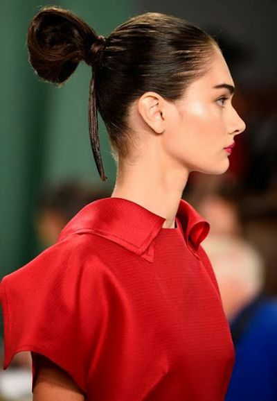 Heavy and High Bun Hairstyles Inspired by Carolina Herrera