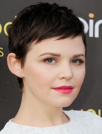 Ginnifer Goodwin Cute Short Hair With Bangs Hairstyle