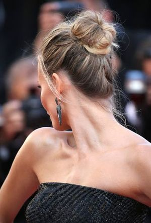 2015 New Messy Bun Hairstyles Inspire to Hollywood Celebrity Natasha Poly