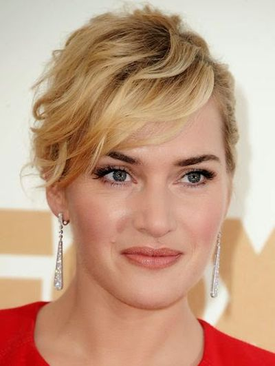 Kate Winslet Bobby Pinned Up-do or Side Swept Bangs Hairstyle