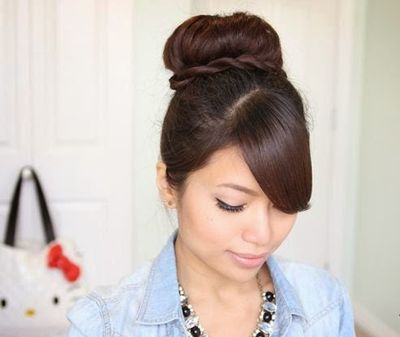 Dazzling Rope Twisted Sock Updo Bun Hairstyles