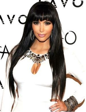 4. Outstanding Straight with Bangs and Long Bob Hairstyle Look