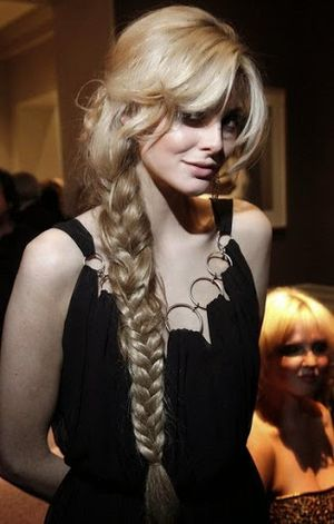 Tamsin Egerton Rapunzel Style Braided Hairstyle