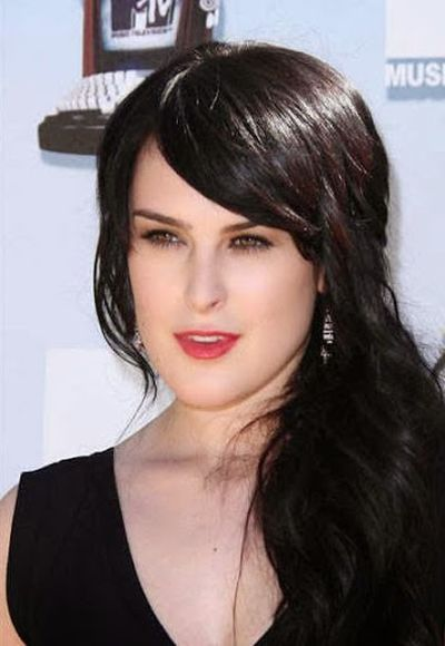 Rumer Willis Hair Look for V Face Shape Ideas For Bangs Hairstyle