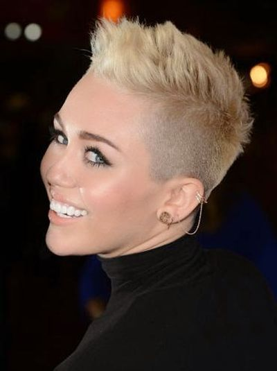 Miley Cyrus Funky and Mohawk Under Haircut