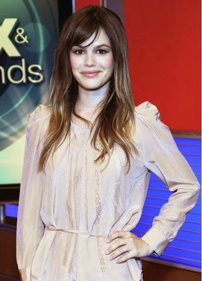 Rachel Bilson Long Straight Cut With Bangs Fashion and Hairstyle