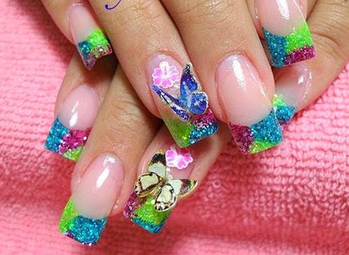 Beautiful Butterfly 3D Nail Art Tips and Ideas