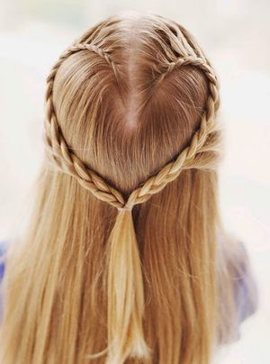 Lovely and Sweet Heart Braid Ponytail Hairstyle Ideas