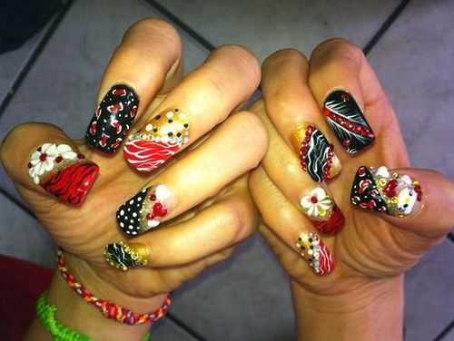Verity of 3D Nail Art and Ideas