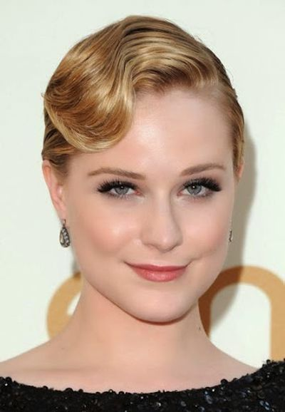 Evan Rachel Wood Very Beautiful Finger Waved Bangs Hairstyle