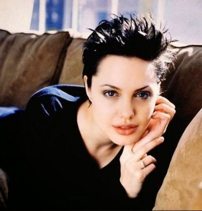 Angelina Jolie Short Spiky Hairstyle