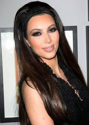 5. Sleek and Shiny Long Hair with Mini Braids Head Band Hairstyle