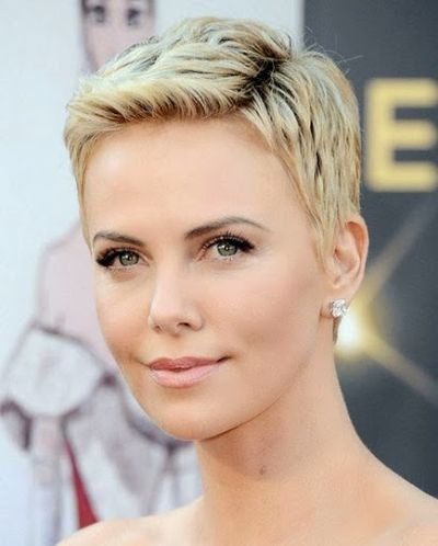 Charlize Theron Formal Gorgeous Short Hairstyle. This Trendy Short Haircut Idea