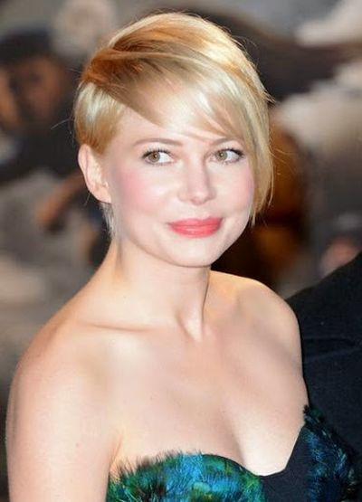 Michelle Williams Back Side Pixie-Cut Bangs Hairstyle