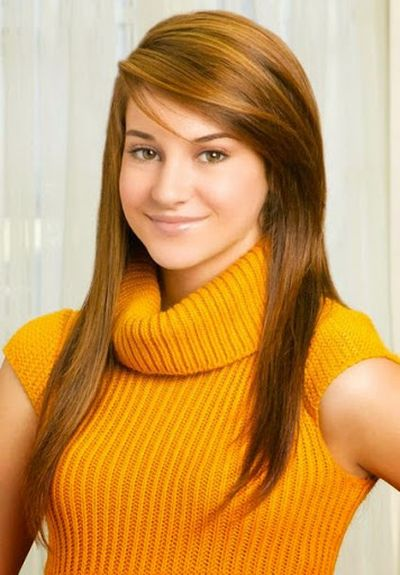 Shailene Woodley Straight Hairstyle