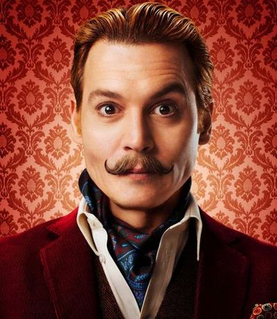 Johnny Depp UpComing Movie Mortdecai with Moustaches Petit Handlebar Facial Hair Styles in