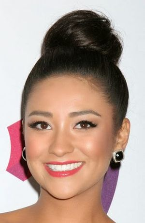 Shay Mitchell Long Straight High Bun Hairstyle Ideas