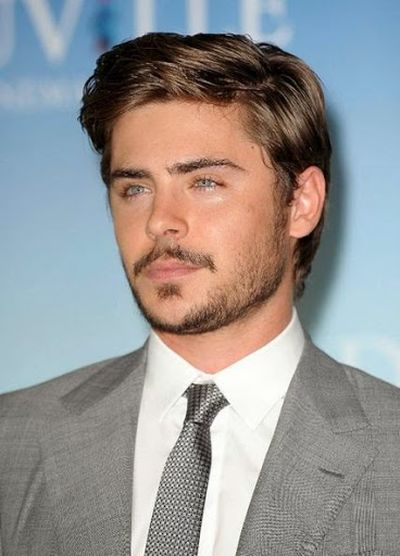 Beard Hair Style for Zac Efron