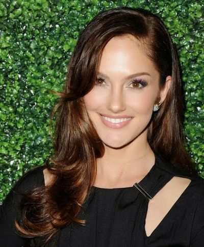Minka Kelly Long Curly and Bangs Hairstyle