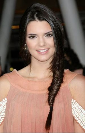 Kendall Jenner Braided Hairstyle