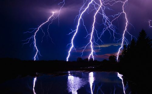 Blue Color Lightning Wallpapers.