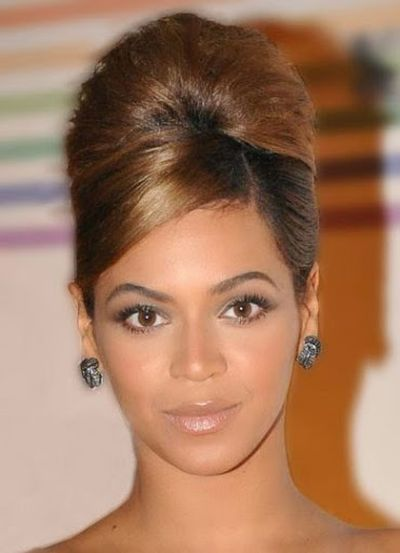Image of Beyonce Knowles Updo Hairstyle
