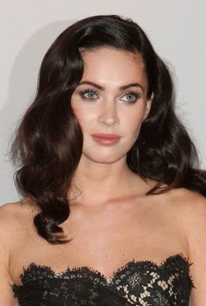 Megan Fox Long curly with Wavy Hairstyle